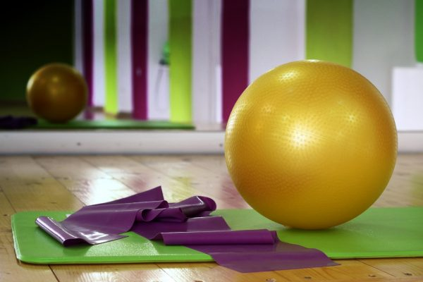 Pilates ballon tapis